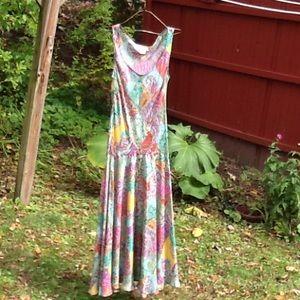 100% silk Sundance maxi dress